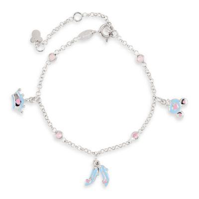 Disney® Enamel Cinderella Bracelet with Pink Cubic Zirconia
