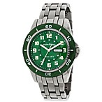 Field & Stream Green Dial Silver-Tone Bracelet Watch