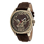 Field & Stream Men's Antique Gold-Tone Watch with Deer Dial