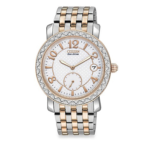 Citizen Ladies Drive from Eco-DriveTwo-Tone Stainless Steel Bracelet with Swarovski® Crystal