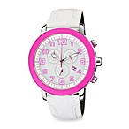 Citizen Ladies Drive from Eco-Drive Chronograph BRT in White and Pink