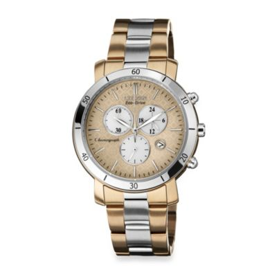 Citizen Ladies Drive from Eco-Drive Two-Tone Stainless Steel Chronograph