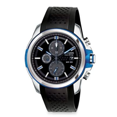 Citizen Men's Drive from Eco-Drive Stainless Steel Chronograph with Black Polyurethane Strap