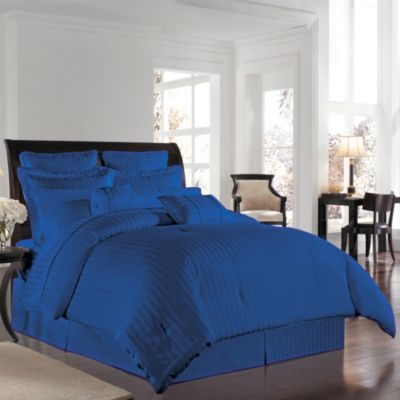 Wamsutta® 500 Damask Twin Comforter Set in Nautical Blue