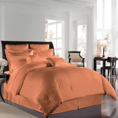 Wamsutta® 500 Damask Twin Comforter Set in Coral