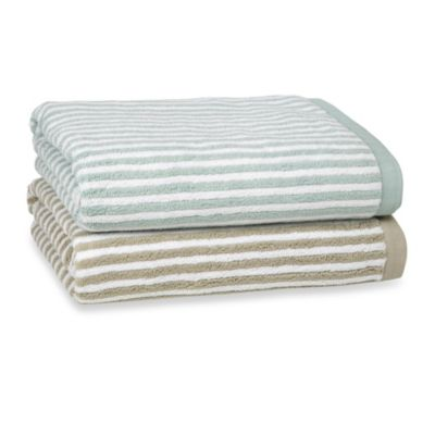 Kassatex Linea Bath Towel in Taupe