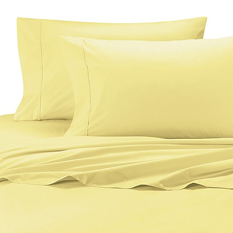 Buy Perfect Percale Twin Xl Sheet Set In Yellow From Bed