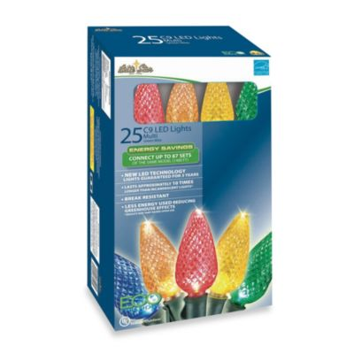 Brite Star 25-Count LED Faceted Lights in Multicolor