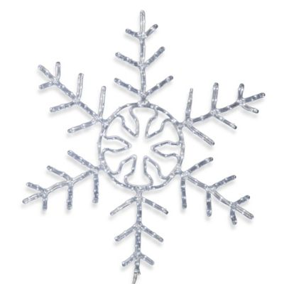 Vickerman 24-Inch LED Forked Snowflake in White