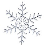 Vickerman White LED Forked Snowflake