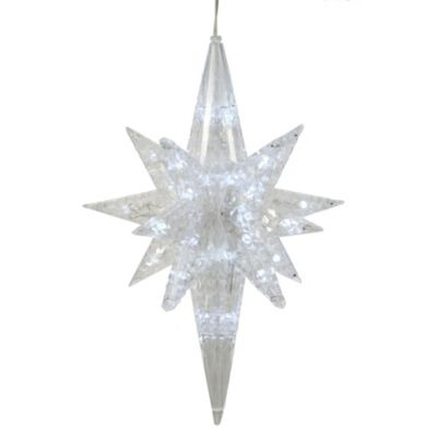 Vickerman 20-Inch White LED Light Bethlehem Star