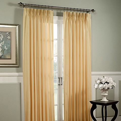 Argentina Pinch Pleat Back Tab Interlined Window Curtain Panel