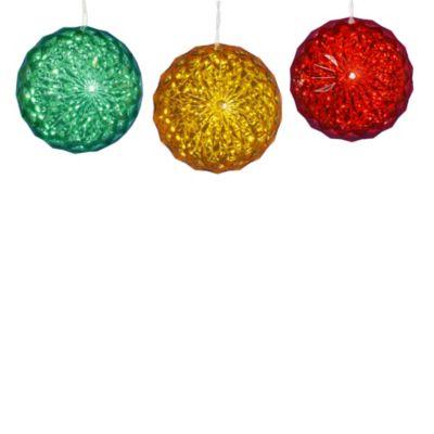 Vickerman Multi-Color Light 6-Inch Crystal Ball