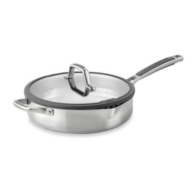Simply Calphalon® Easy System™ Stainless Steel 3-Quart Covered Saute Pan