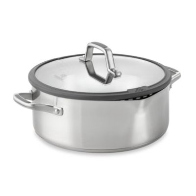 Simply Calphalon® Easy System™ Stainless Steel 5-Quart Covered Dutch Oven