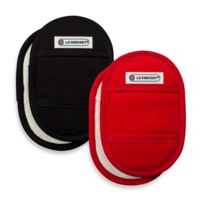 Le Creuset® Fingertip Pot Holders in Black (Set of 2)