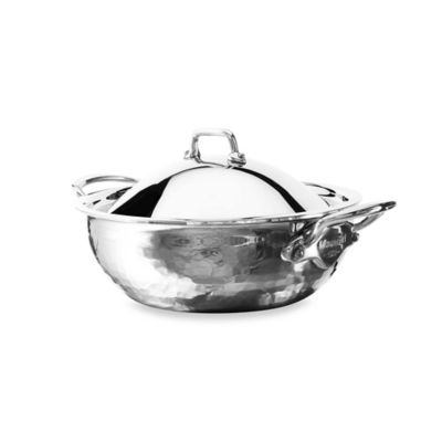 Mauviel M'Elite Splayed Saute Pan and Lid