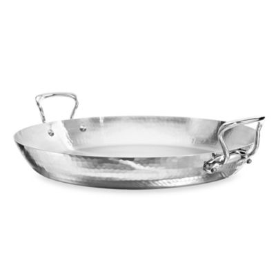 Mauviel M'elite 13.7-Inch Stainless Steel Paella Pan