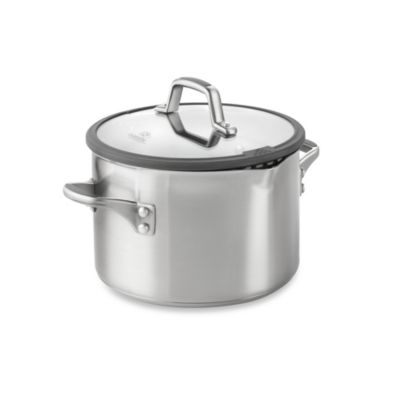 Simply Calphalon® Easy System™ Stainless Steel 6-Quart Covered Stockpot