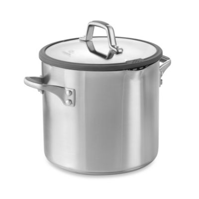 Simply Calphalon® Easy System™ Stainless Steel 8-Quart Covered Stockpot