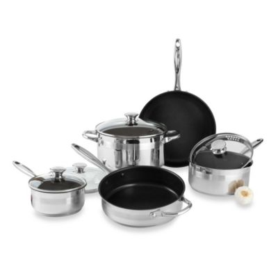 Wolfgang Puck® Stainless Steel Nonstick 9-Piece Cookware Set