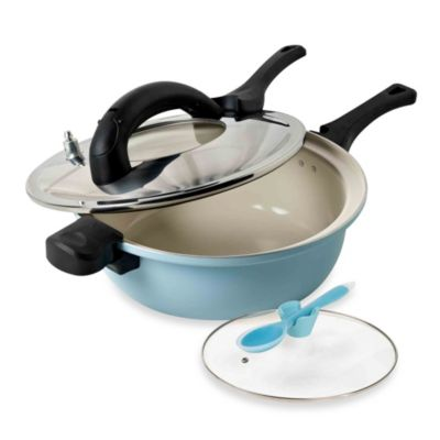 Anna Boiardi 4-Piece Fast Cooker Set in Blue