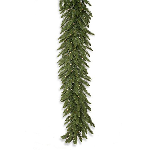 Vickerman 9-Foot Camdon Fir Garland with Clear Lights
