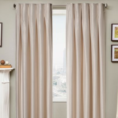 Designers' Select Maximus Inverted Pleat 84-Inch Window Curtain Panel in Ivory