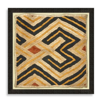 """Kuba Cloth 1"" Framed Art"