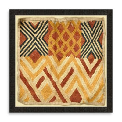 """Kuba Cloth 2"" Framed Art"