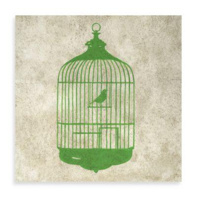 Bird House Giclée on Canvas Wall Art in Green