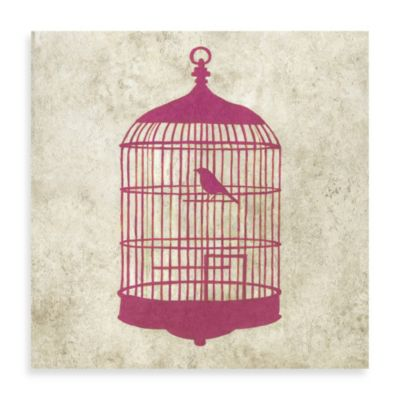 Bird House Giclée on Canvas Wall Art in Pink