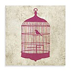 Bird House Giclee on Canvas Wall Art in Pink