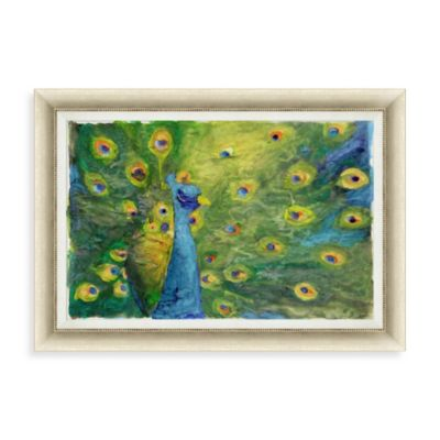 """Majestic Peacock"" Framed Art 2"
