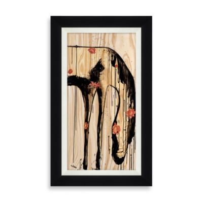 """Horse with Flowers"" Framed Art 1"