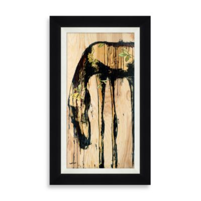 """Horse with Flowers"" Framed Art 2"