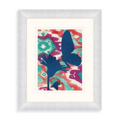 """Butterfly Ikat"" Framed Art 1"