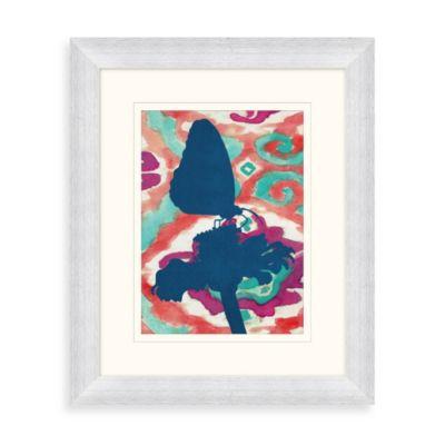 """Butterfly Ikat"" Framed Art 2"