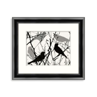 """Bird and Branch"" Framed Art 1"