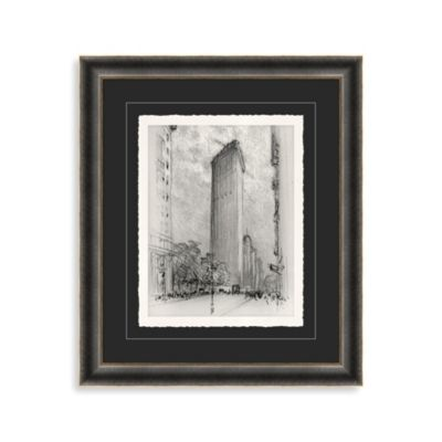 """NYC Flatiron Building"" Framed Art"