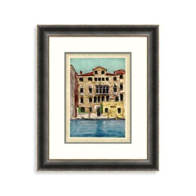 Docked Gondola Colorful Framed Art 1