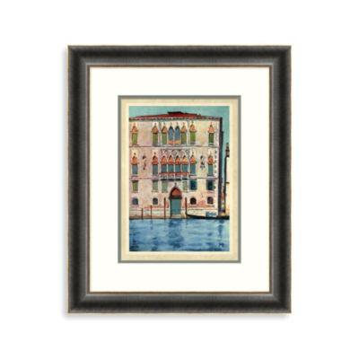 Docked Gondola Colorful Framed Art 2