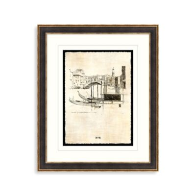 Etchings of Venice 1 Framed Art