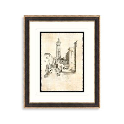 Etchings of Venice 3 Framed Art