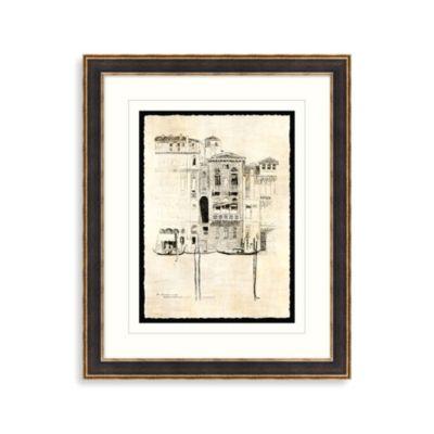 Etchings of Venice 4 Framed Art