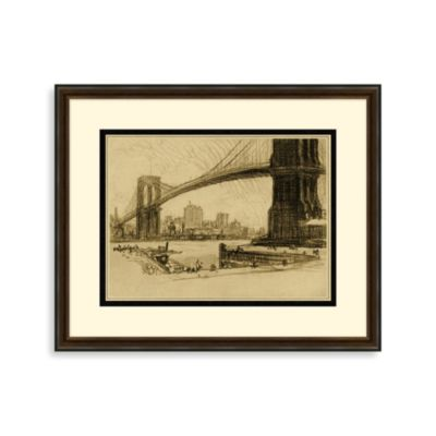 """Manhattan Bridges"" Framed Art 1"