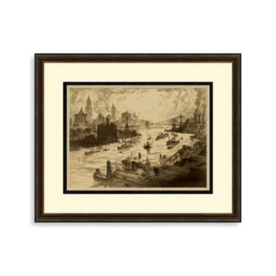 """Manhattan Bridges"" Framed Art 2"