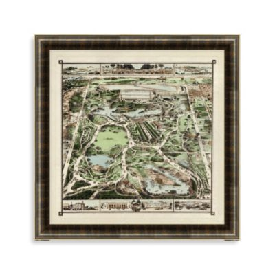 """Central Park Map"" Framed Art"