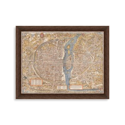 Map of Paris Framed Art
