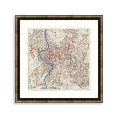 City Plan of Rome Framed Art